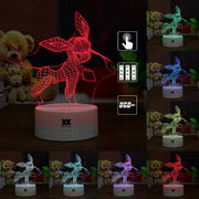 pokemon glaceon led 3d night light of many color