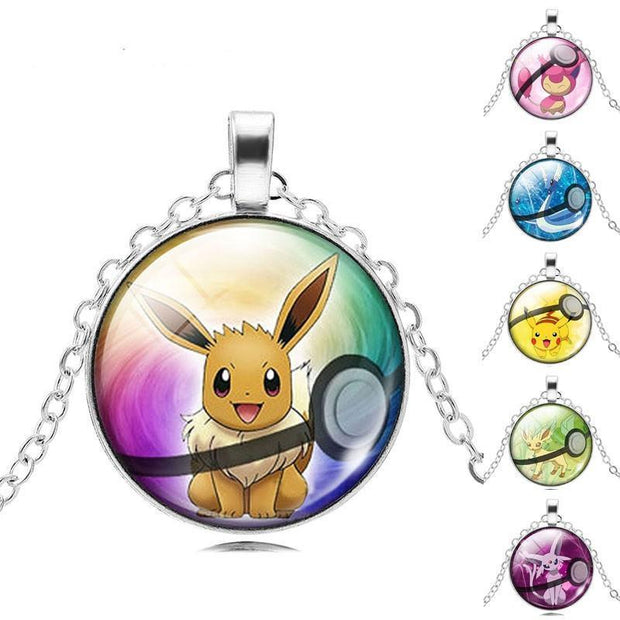 pokemon glass pendants