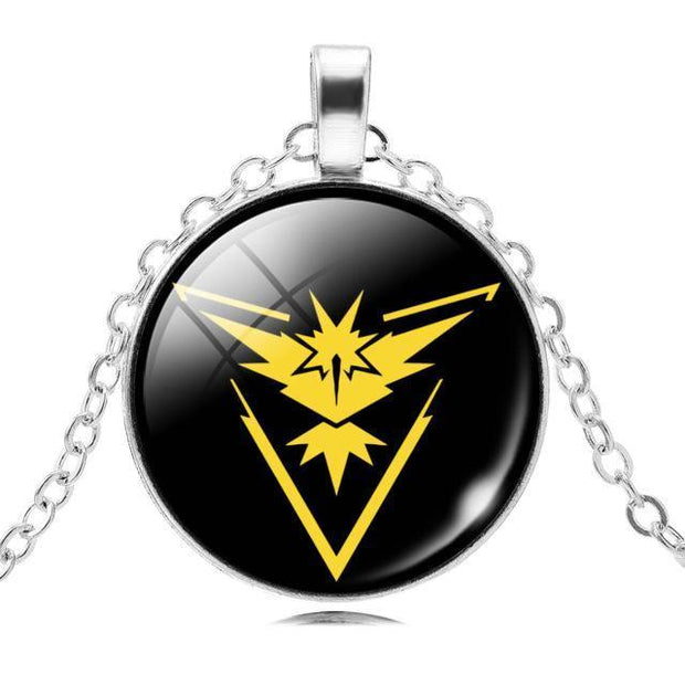 pokemon go team instinct glass pendant