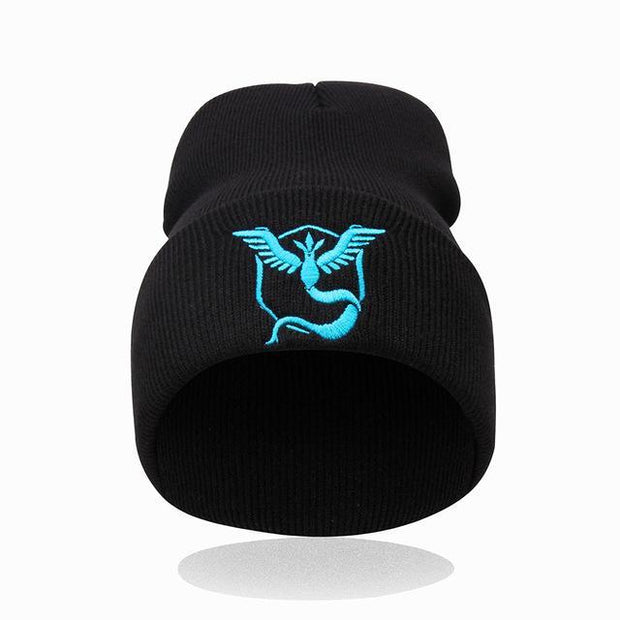 pokemon go team mystic beanie of black color