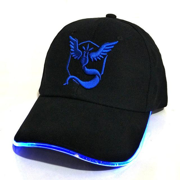 pokemon go team mystic LED hat