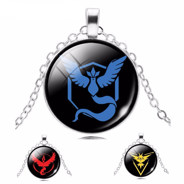 pokemon go team glass pendants