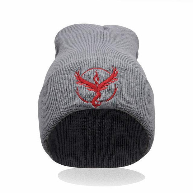 pokemon go team mystic beanie of gray color