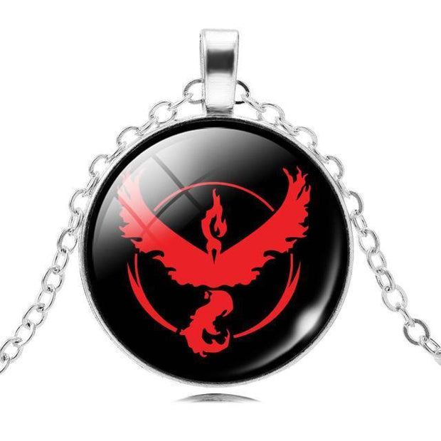 pokemon go team valor glass pendant