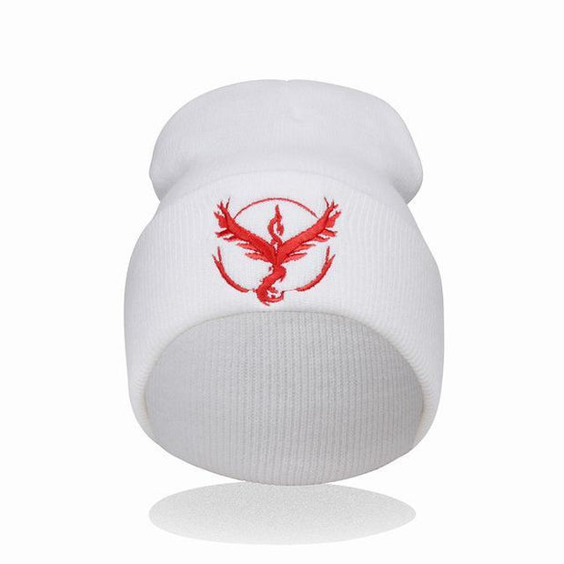 pokemon go team mystic beanie of white color