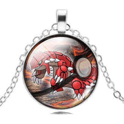 pokemon groudon glass pendant