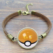 pokemon gs ball leather bracelet