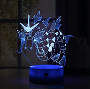 pokemon gyarados led 3d night light of blue color