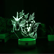 pokemon gyarados led 3d night light of green color