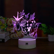 pokemon gyarados led 3d lamp purple of color