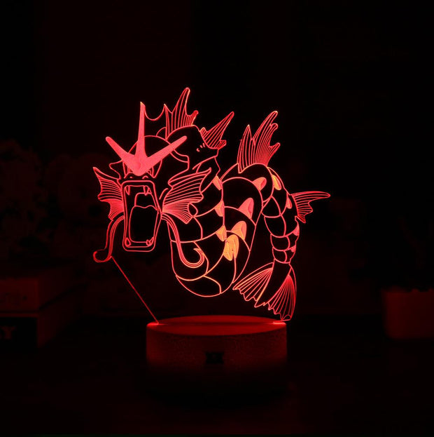 pokemon gyarados led 3d lamp red of color