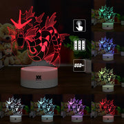 pokemon gyarados led 3d night light of many color