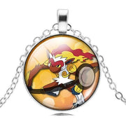 pokemon infernape glass pendant