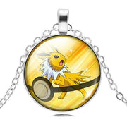 pokemon jolteon glass pendant