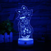 pokemon kanto starters led 3d night light of blue color