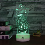 pokemon kanto starters led 3d night light of green color