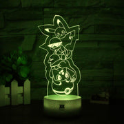 pokemon kanto starters led 3d night light of yellow color
