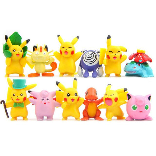 pokemon kawaii figure toys set all 12 pieces