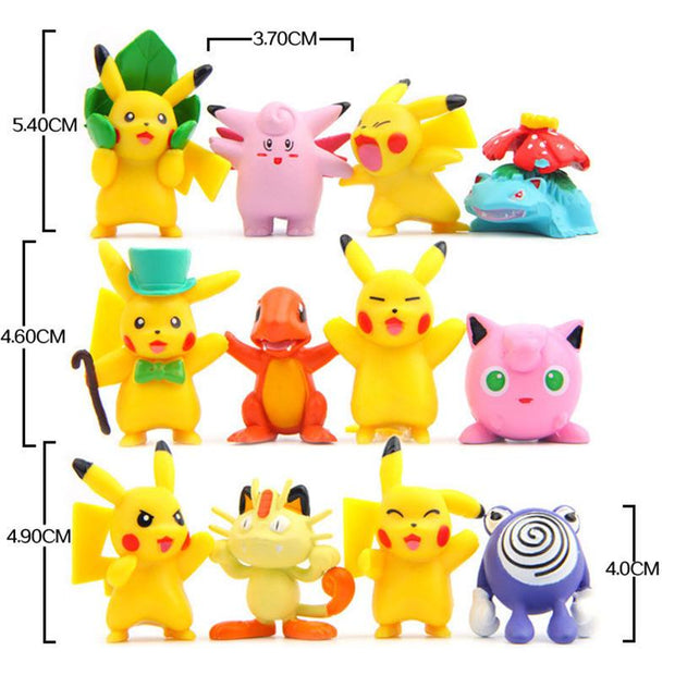 pokemon kawaii figure toys set sizes