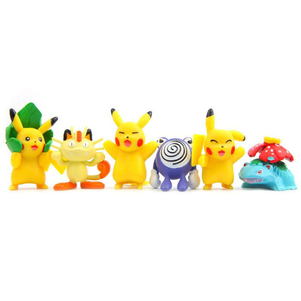 pokemon kawaii figure toys set with pikachu and friends