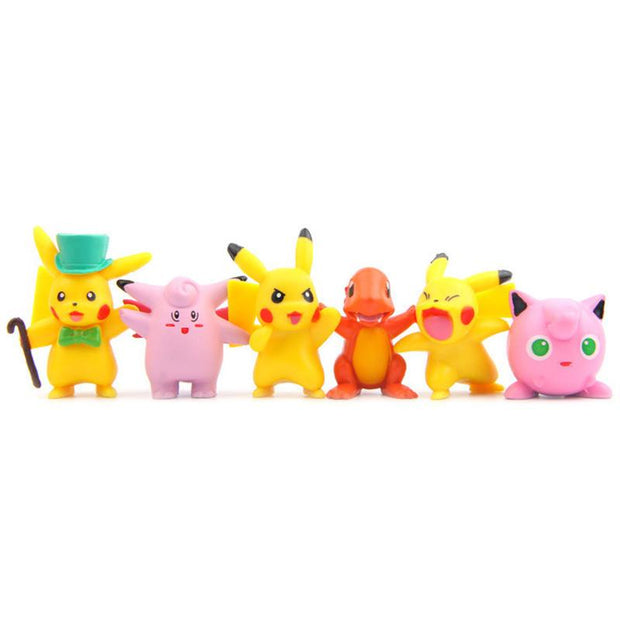 pokemon kawaii figure toys set of six