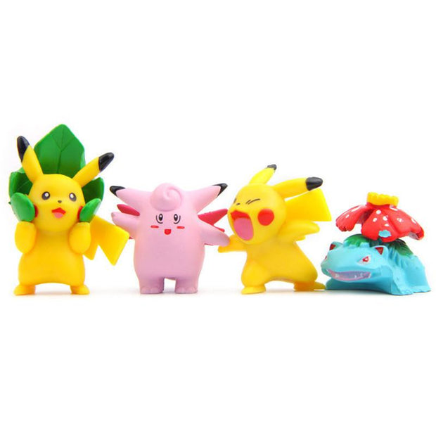 pokemon kawaii figure toys with venasaur and clefairy