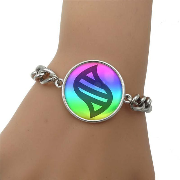 pokemon key stone charm bracelet on wrist