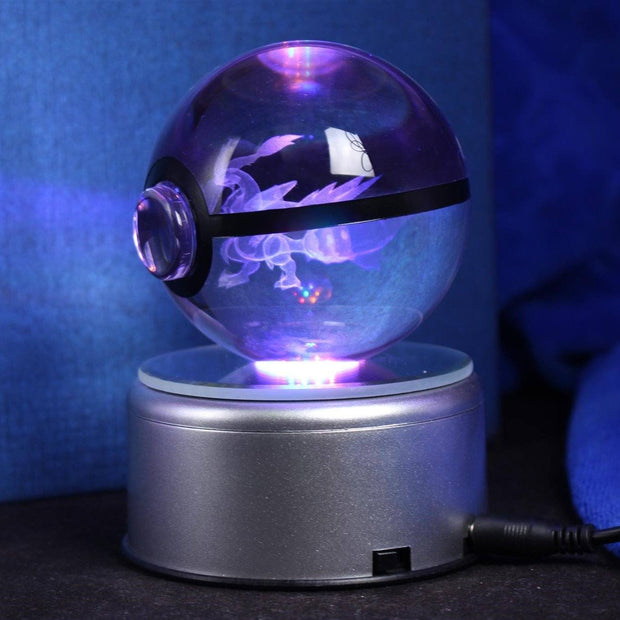 pokemon kyurem crystal led pokeball angled