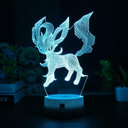 pokemon leafeon led 3d night light of blue color