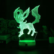pokemon leafeon led 3d night light of green color