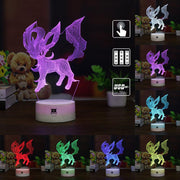 pokemon leafeon led 3d night light of many color