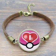 pokemon love ball leather bracelet