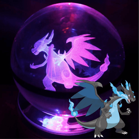 pokemon mega charizard crystal pokeball