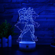 pokemon mega lucario led 3d night light of blue color