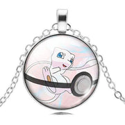 pokemon mew glass pendant
