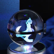 pokemon mewtwo crystal led pokeball
