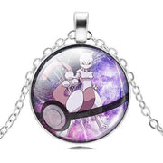 pokemon mewtwo glass pendant