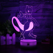 pokemon mewtwo 3d led night light of purple color