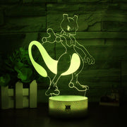 pokemon mewtwo 3d led night light of yellow color