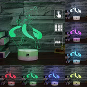 pokemon mewtwo led 3d night light of many colors