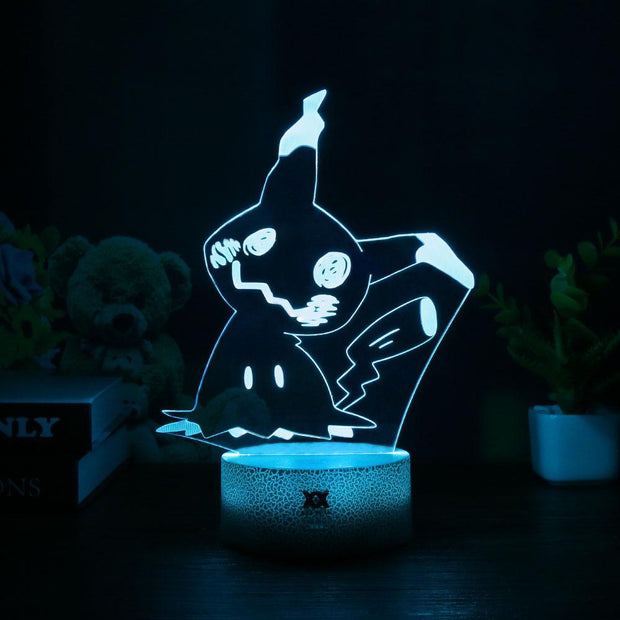 pokemon mimikyu led 3d night light of blue color