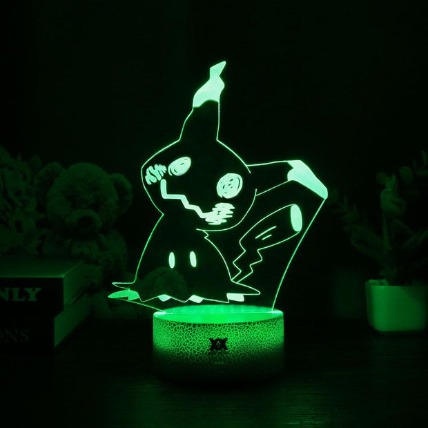 pokemon mimikyu led 3d night light of green color