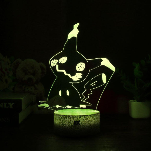 pokemon mimikyu led 3d night light of yellow color