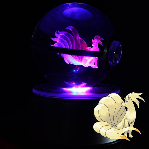pokemon ninetales crystal pokeball