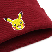 pokemon pikachu beanie red color close up