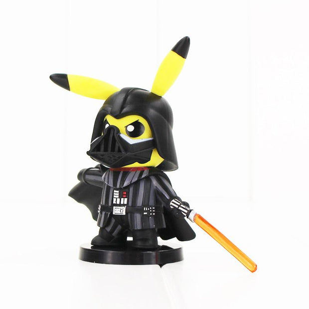 pokemon pikachu darth vader crossover figure toy facing left