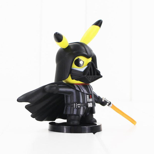 pokemon pikachu darth vader crossover figure toy facing right