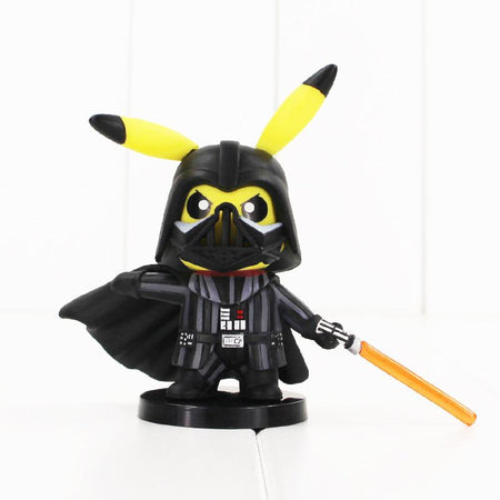 pokemon pikachu darth vader crossover figure toy