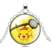pokemon pikachu glass pendant