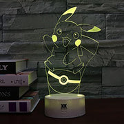 pokemon pikachu led night light yellow of yellow color